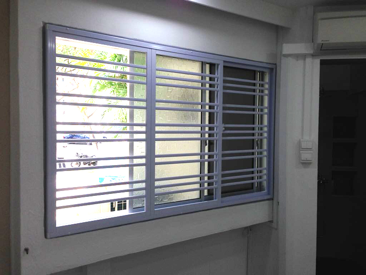 Aluminium Grill with Sliding Window