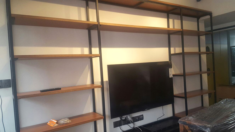 TV Wall with Shelves