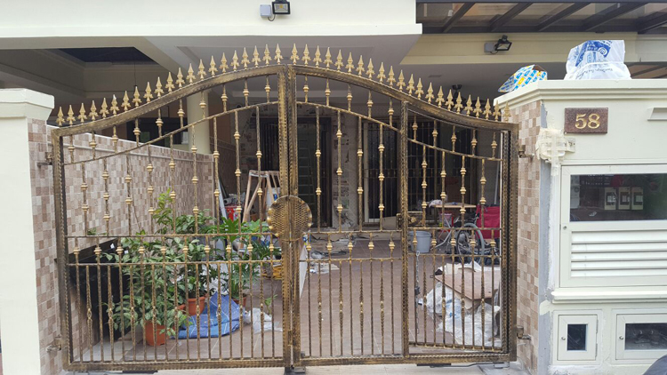 Wrought Iron Gate for Landed Property