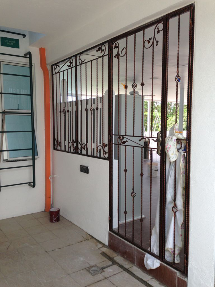 Wrought Iron Grille Top 1 Singapore Safety Window