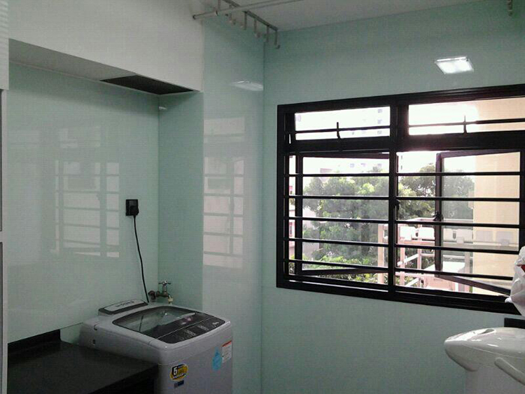 Glass Laundry Area